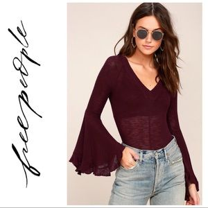 NEW Free People So Dramatic Bell Sleeve Blouse